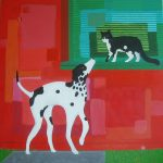 pintura sobre tela animales