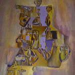 pintura sobre tela remeras