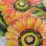 pintura sobre tela girasoles