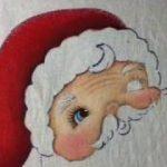 pintura sobre tela diseños de navidad