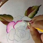 pintura sobre tela de rosas