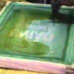 pintura sobre tela de nylon