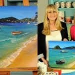 pintura decorativa paisajes marinos