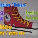 manualidades zapatos en goma eva