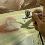 pintura sobre tela con aerografo
