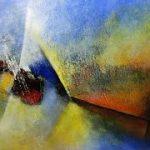 pintura a oleo sobre tela abstrata