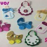 como hacer adornos para baby shower con goma eva
