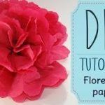 manualidades como hacer flores de papel china